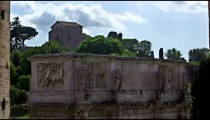The top of the Arch of Constantine from the Colosseum