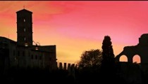 Basilica of Constantine at sunset
