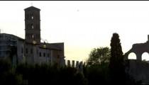 Tilt down Basilica of Constantine