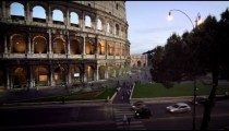 Lower Colosseum and Arch of Constantine and Italian street