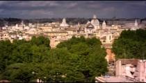Panoramic footage of Roman skyline