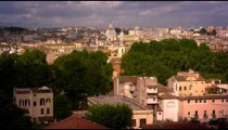 Panoramic shot of Rome skyline