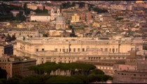Aerial footage of the Palace of Justice and Castel Sant'Angelo