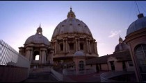 Low-angle shot of domes of St Peter's Basilica