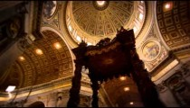 Pan footage of the ceilings of St Peter's