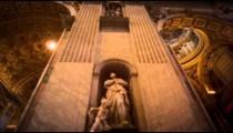 Tilt down column of St Peter's Basilica