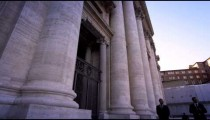 Footage of the front entrance to St Peter's Basilica
