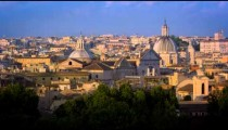 Still footage of the domes of the Santa Maria in Vallicella and the Sant'Agnese in Agone at sunset