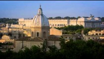 Still footage of the Palace of Justice behind the San Giovanni dei Fiorentini dome