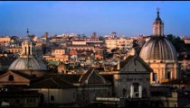 Still footage focused on the domes of the Santa Maria in Vallicella and the Sant'Agnese in Agone