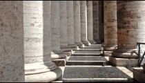 Columns of colonnade of St Peter