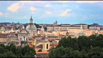 Rooftops of Rome, including the Pantheon dome