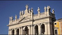 Close up of statues atop the Archbasilica of St John Lateran