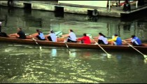 A boat full of rowers on Tiber
