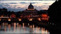 Telephoto view of San Pietro in Vatican City