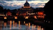 Rack focus view San Pietro Vatican City