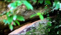 Slow panning shot of some large boulders stacked in the forest of Kenya