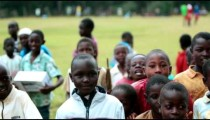 KENYA-C.2012 Young boys move to attract attention on a football field in Kenya, Aftrica c.2012