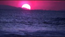 Panoramic shot of the setting sun at the Costa Rican coast