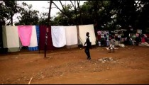 Shot driving through a market street in Kenya. Shot in Kenya, Africa.
