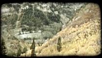 Autumn mountains 3. Vintage stylized video clip.