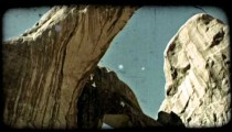 Two arches in Moab 1. Vintage stylized video clip.