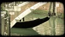 Gondola Ride. Vintage stylized video clip.