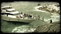 Sightseeing Tour 3. Vintage stylized video clip.