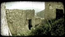 Italian Town 6. Vintage stylized video clip.