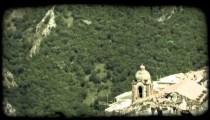 Italian Town 2. Vintage stylized video clip.