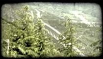 Italian Bridge. Vintage stylized video clip.
