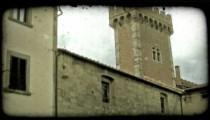 Italian Castle 1. Vintage stylized video clip.