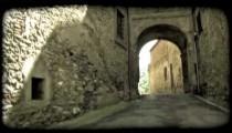 Italian tunnel 1. Vintage stylized video clip.
