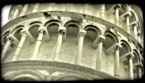 Tower of Pisa 7. Vintage stylized video clip.