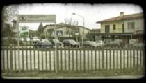 Italian train 1. Vintage stylized video clip.
