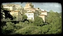 Italian Town 4. Vintage stylized video clip.