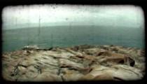 Italian Ocean 1. Vintage stylized video clip.