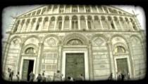 Italian building 5. Vintage stylized video clip.