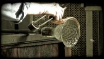 Glass Blowing 15. Vintage stylized video clip.