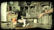 Glass Blowing 7. Vintage stylized video clip.