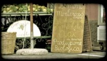 Italian Fruit Stand 2. Vintage stylized video clip.