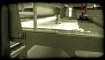 Factory pressing machine. Vintage stylized video clip.