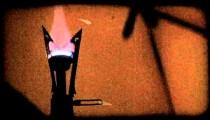 Hand lights gas light. Vintage stylized video clip.