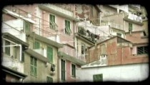 Italian Homes. Vintage stylized video clip.
