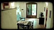 Italian home 8. Vintage stylized video clip.