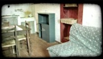 Italian home 2. Vintage stylized video clip.