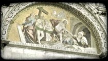 Cathedral Art 16. Vintage stylized video clip.