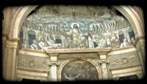 Cathedral Art 15. Vintage stylized video clip.