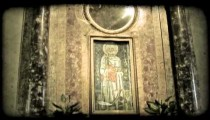 Cathedral Art 14. Vintage stylized video clip.