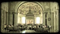 Cathedral Art 13. Vintage stylized video clip.